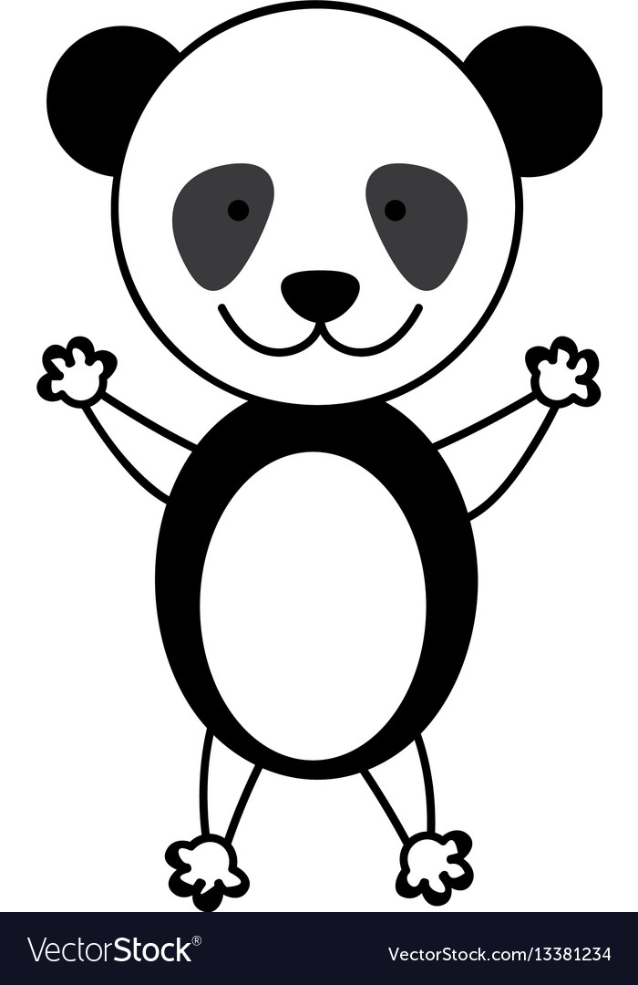 colorful picture cute panda animal royalty free vector image