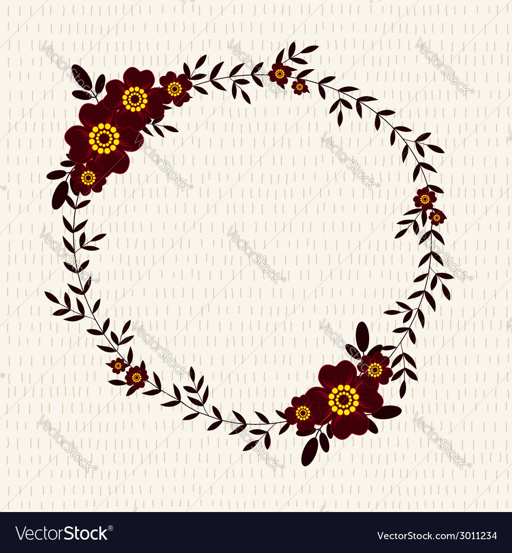 Cute frame with marigolds