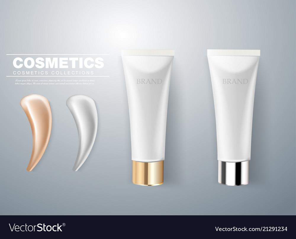 Design of cosmetic packaging gray cream