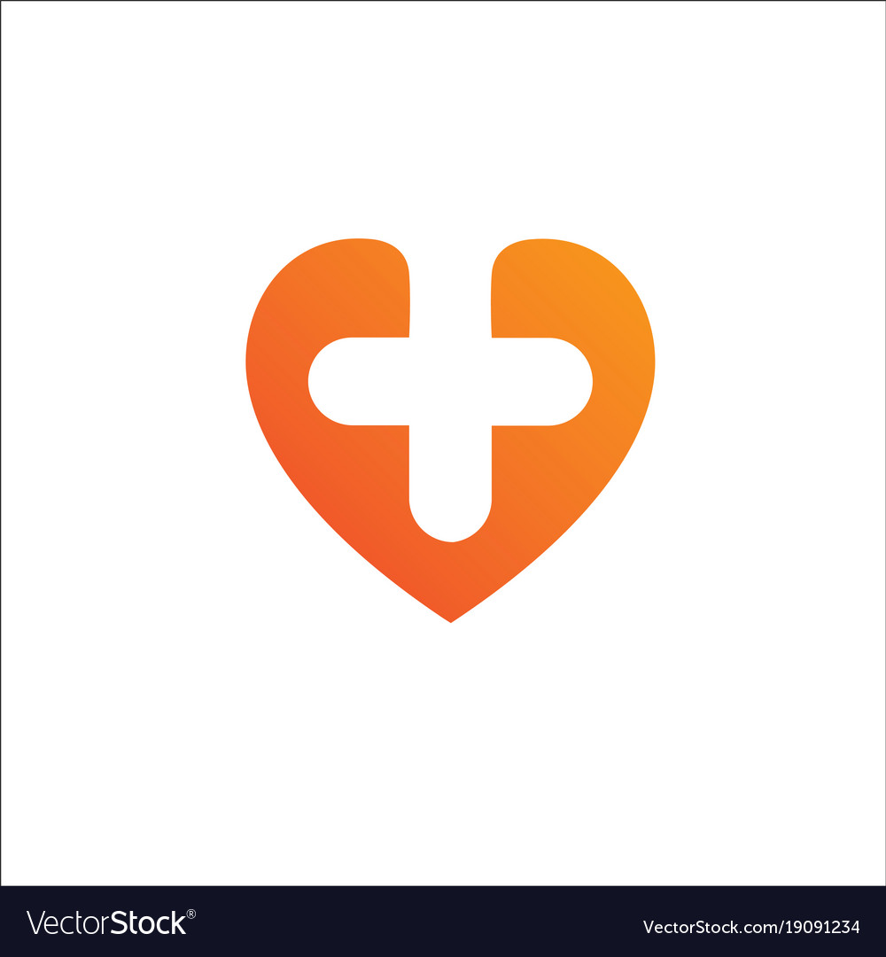 Heart logo templatecardiology medical health care