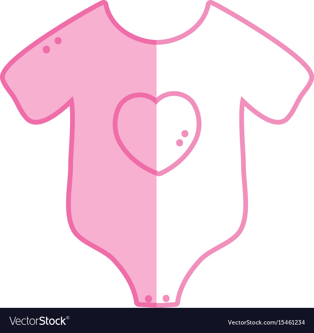 Silhouette Baby Clothes That Used In The Body Vector Image