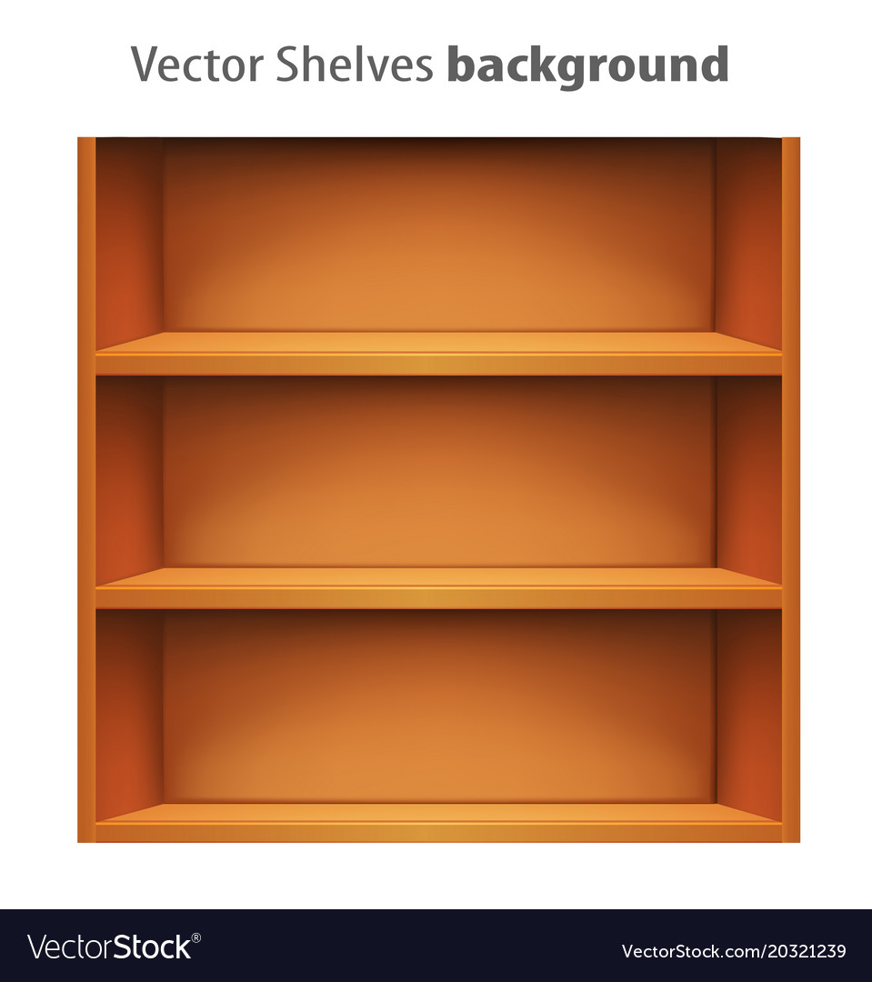 3d book shelve template royalty free vector image