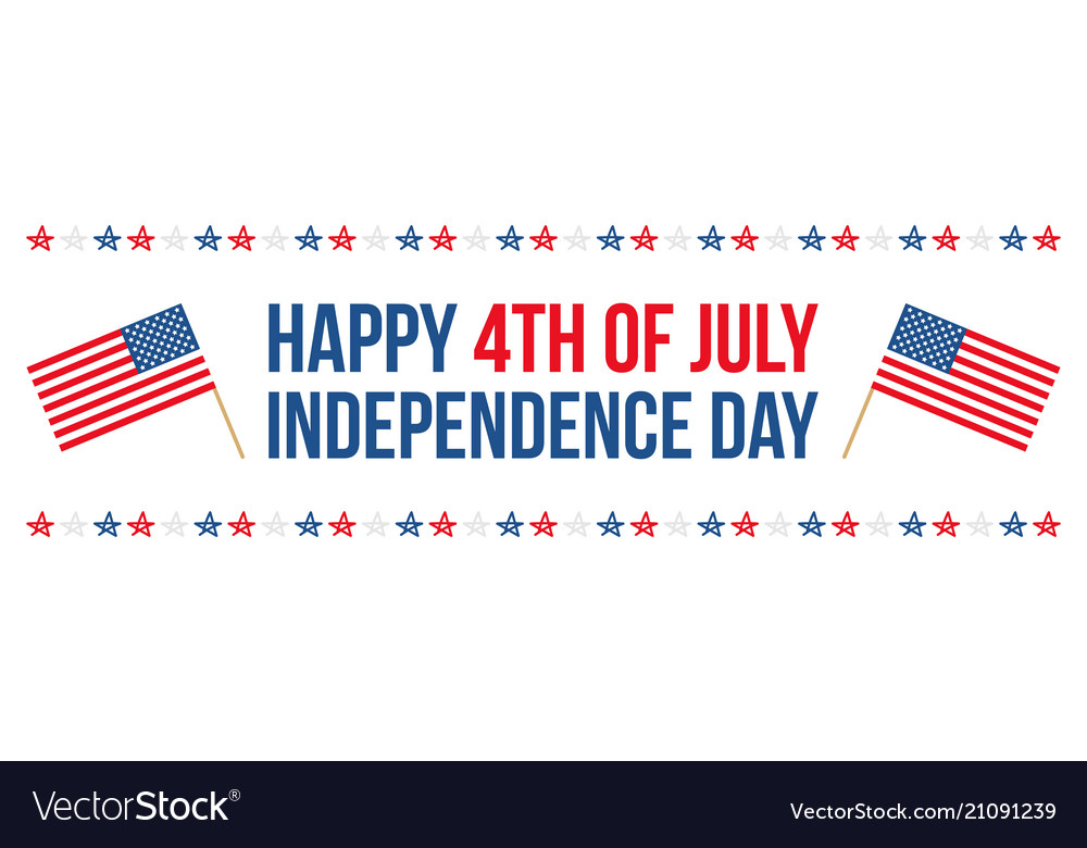 4th of july independence day horizontal card