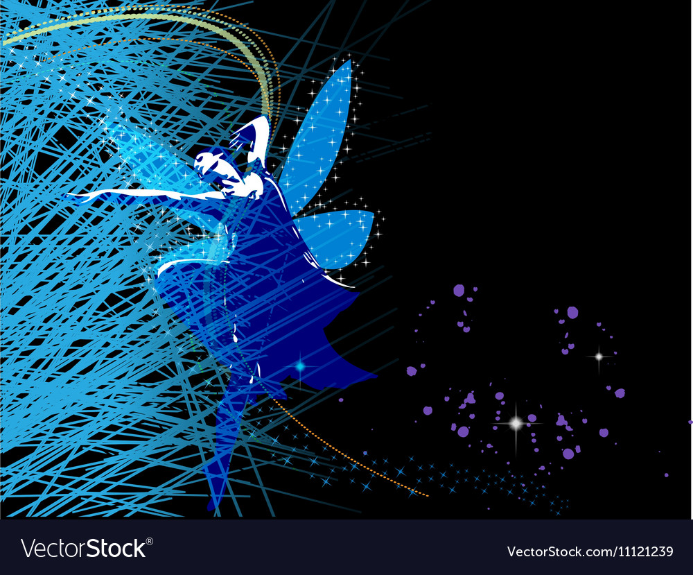 Abstract background with fairy fairy