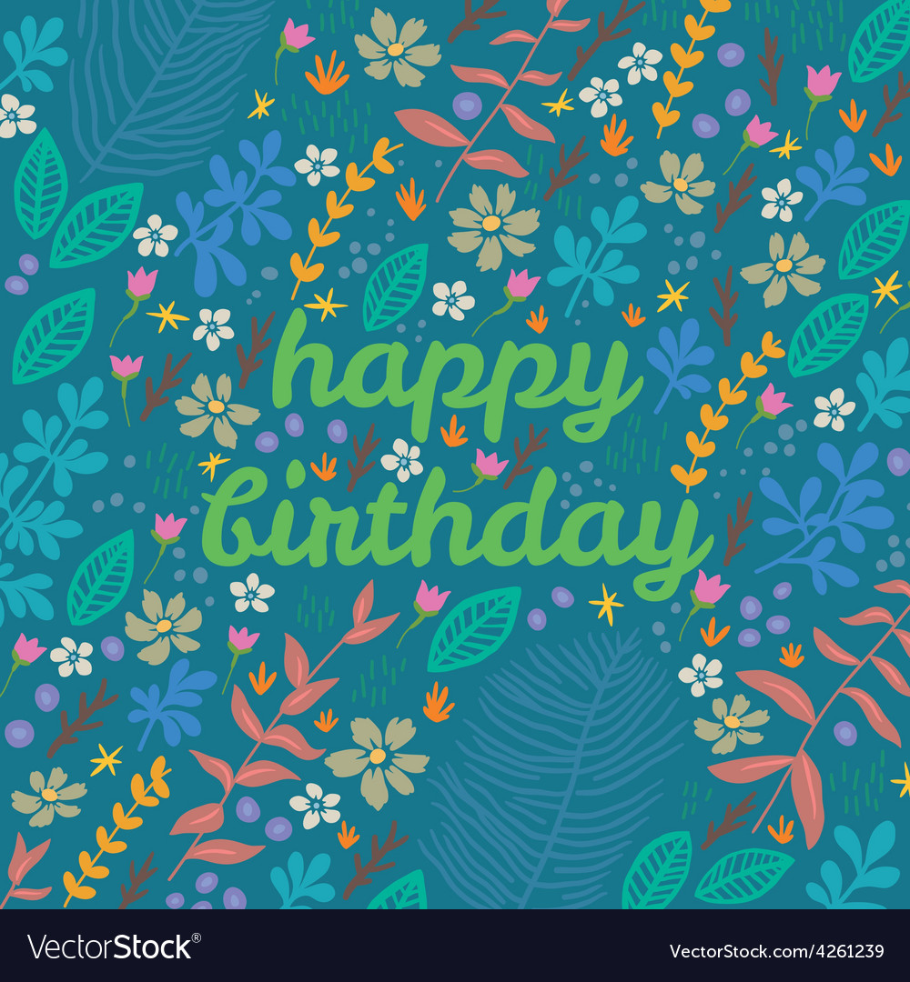 Cartoon floral card