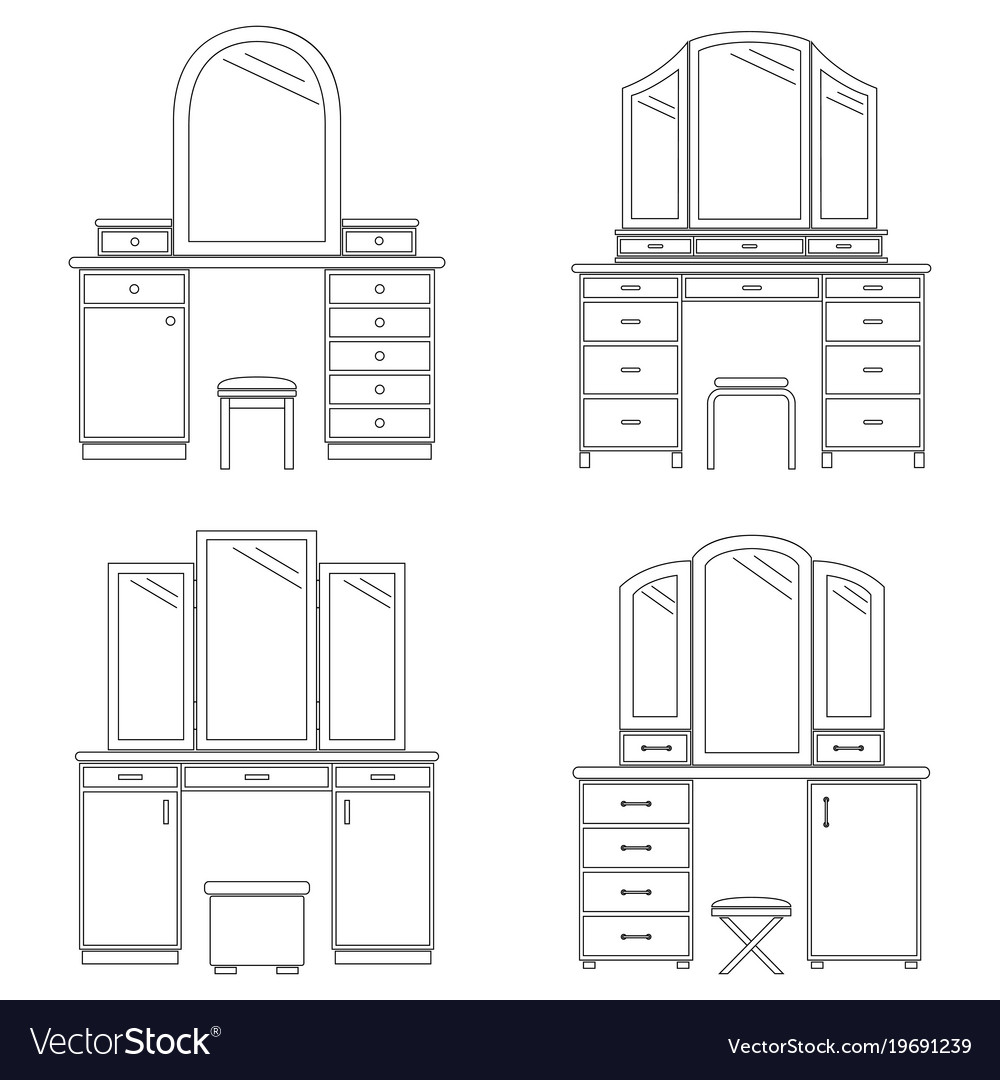 Collection of dressing tables