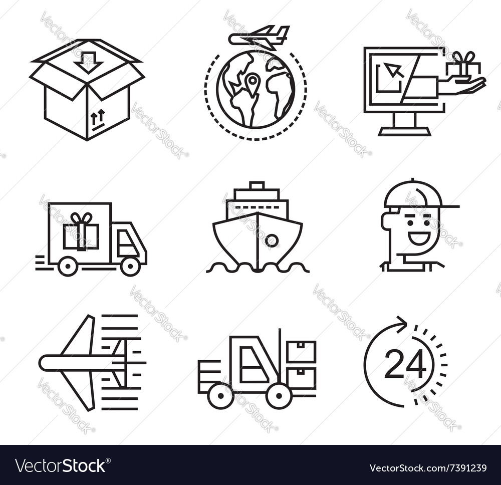 Delivery flat icons