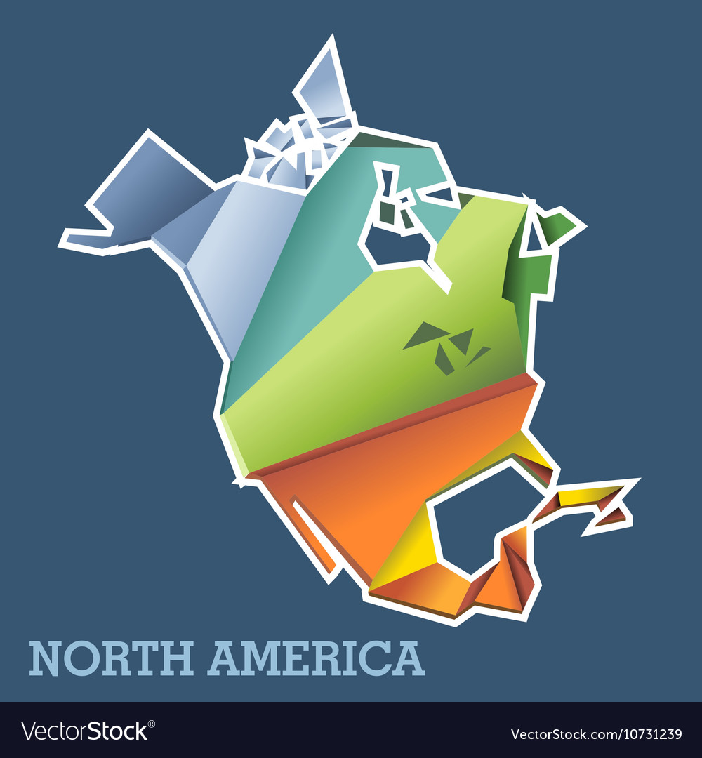 Digital north america map with abstract