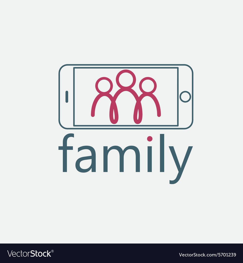happy family selfie design template royalty free vector