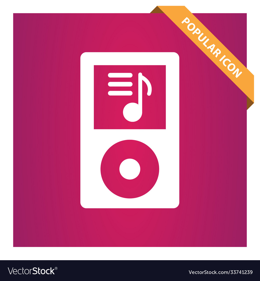 Mp3 music player icon