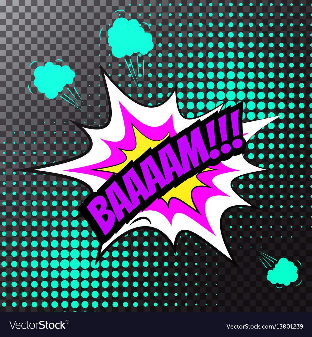 Pop art comic speech bubble bam