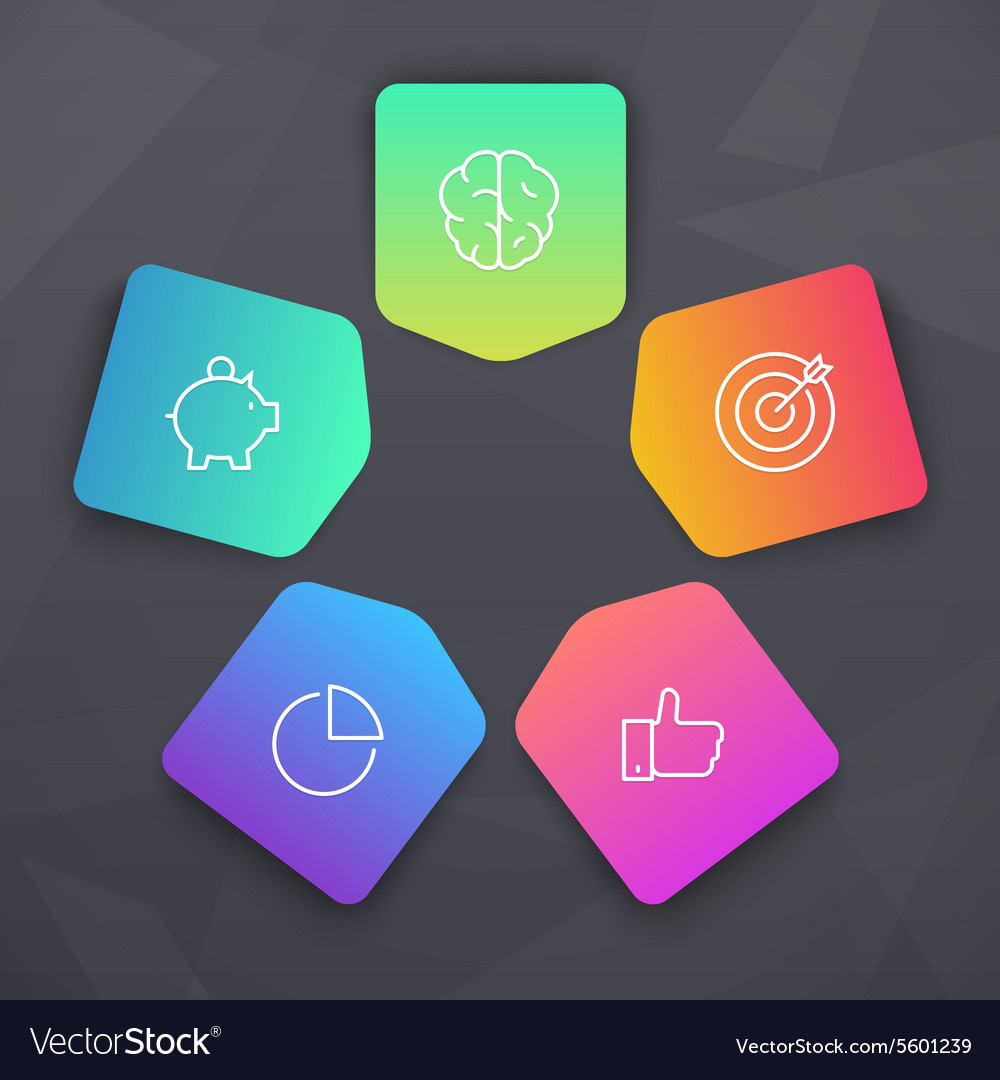 Vivid Elements with SEO icons