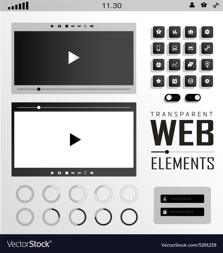 Web Elements Buttons and Labels Site