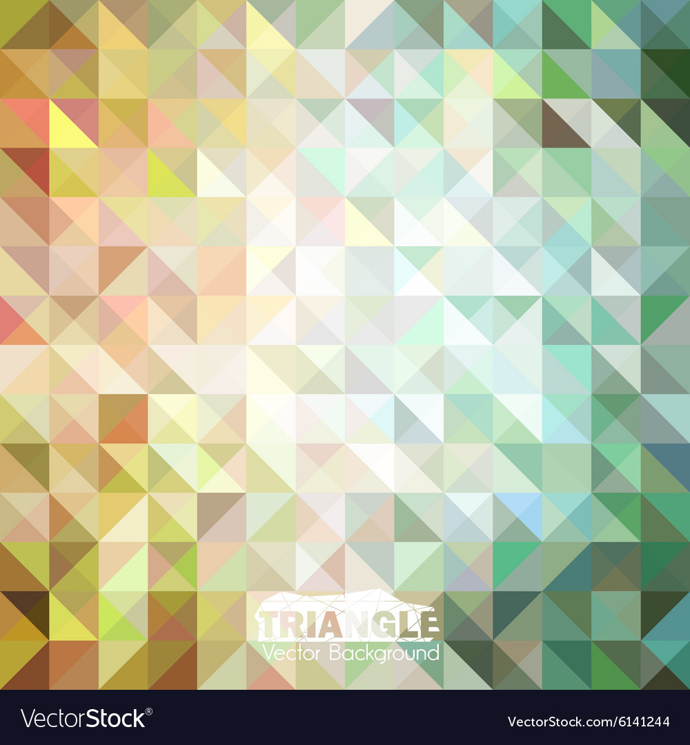 Abstract colorful triangle background vector image