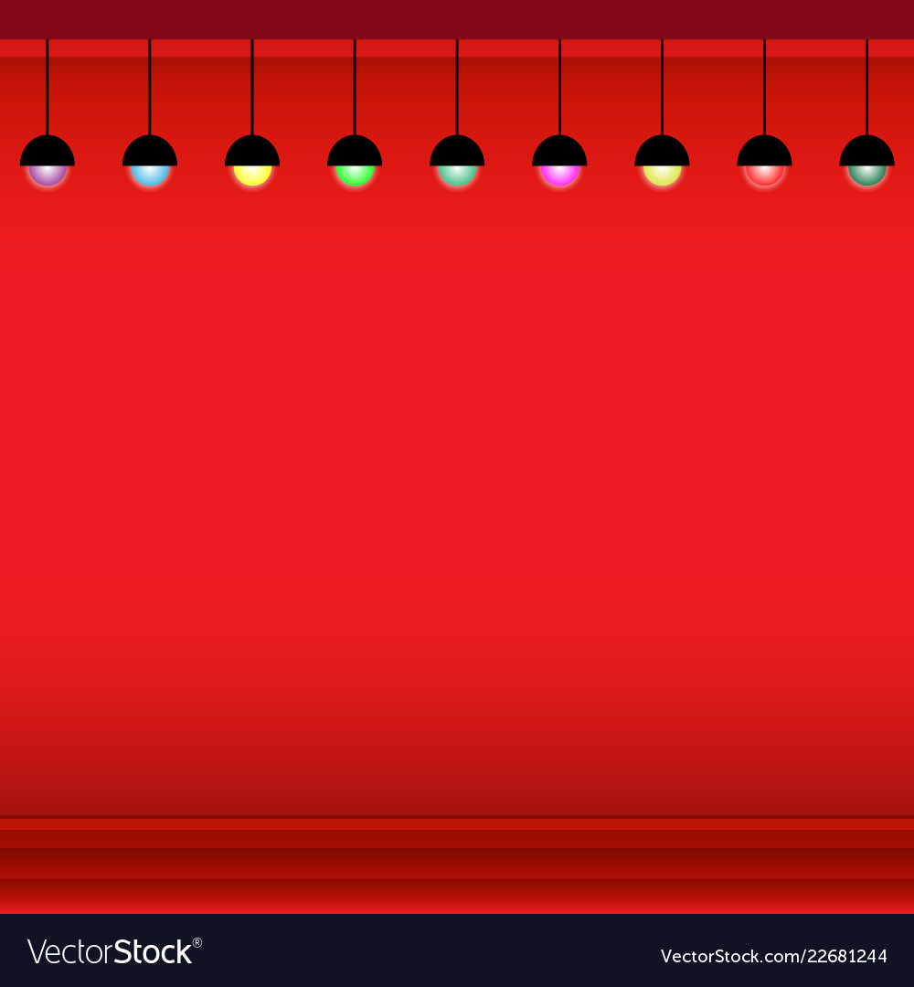 Christmas background with sphere lamps