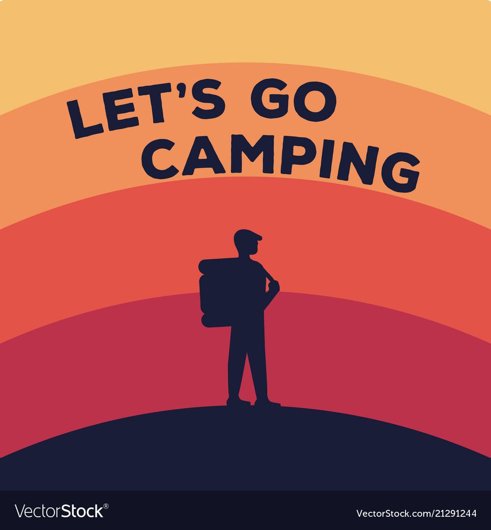 Concept for a camping silhouette of