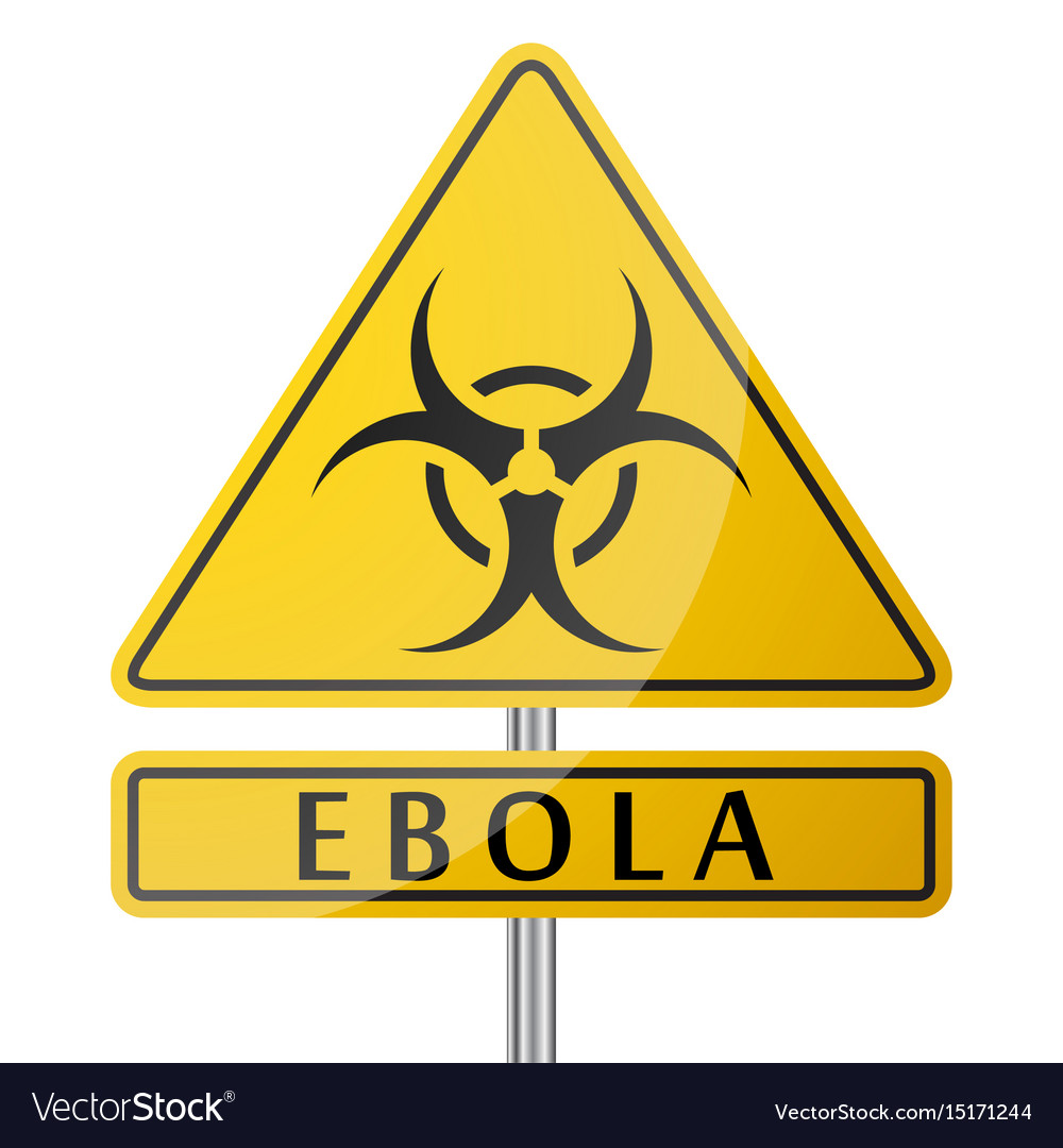 Ebola danger yellow poster vector image