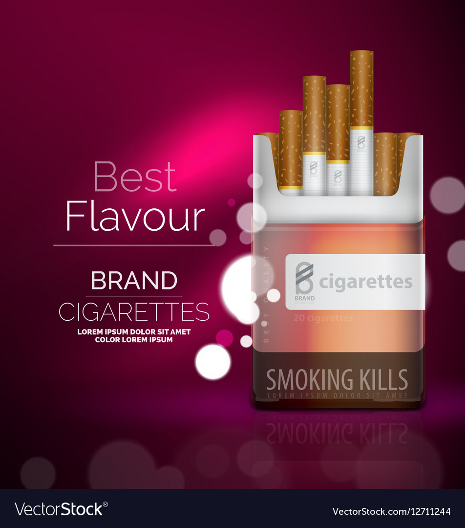 Premium Cigarettes Pack Ad Template Royalty Free Vector - Product ad template