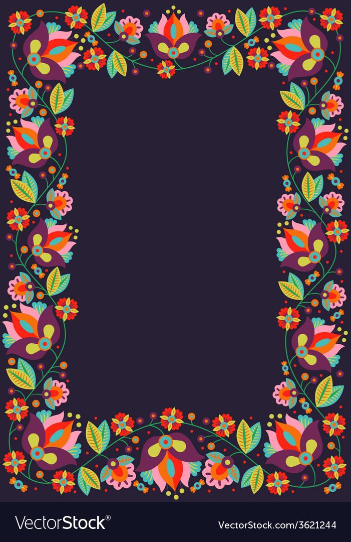 Retro flower frame
