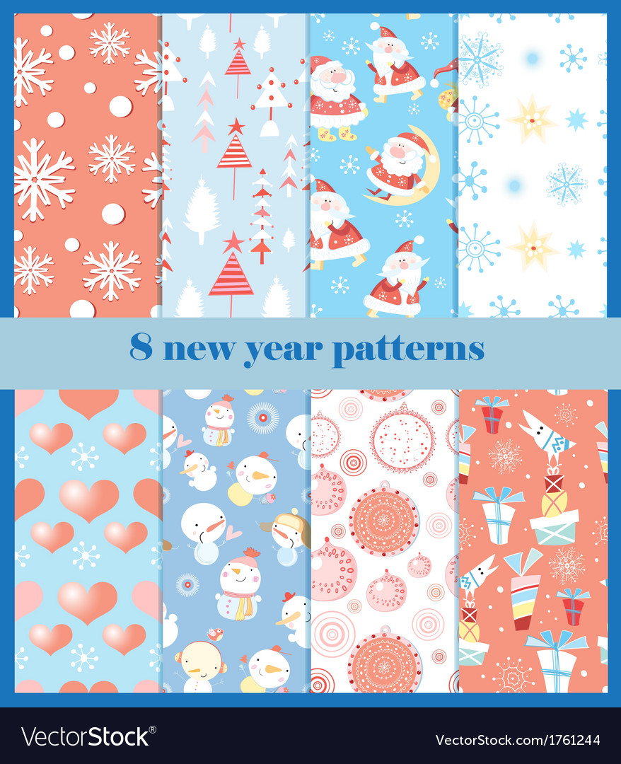 Set of patterns for the new year