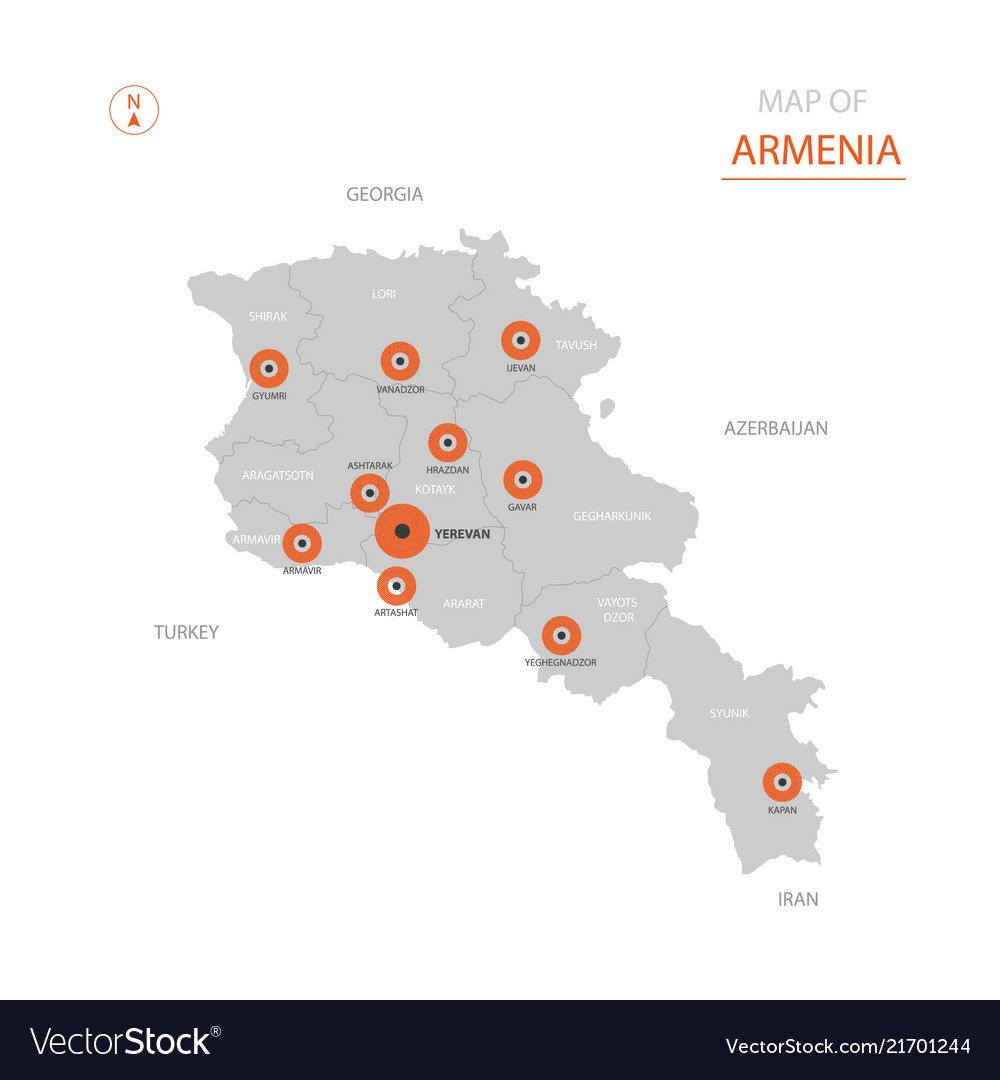Stylized armenia map showing big cities capital on map of southern europe cities, map of central america cities, map of france cities, map of uk cities, map of china cities, map of s korea cities, map of asia cities, map of chile cities, map of latin america cities, map of west germany cities, map of brazil cities, map of western ukraine cities, map of india cities, map of the dominican republic cities, map of dutch cities, map of new zealand cities, map of ussr cities, map of democratic republic of congo cities, map of ireland cities, map of portugal cities,