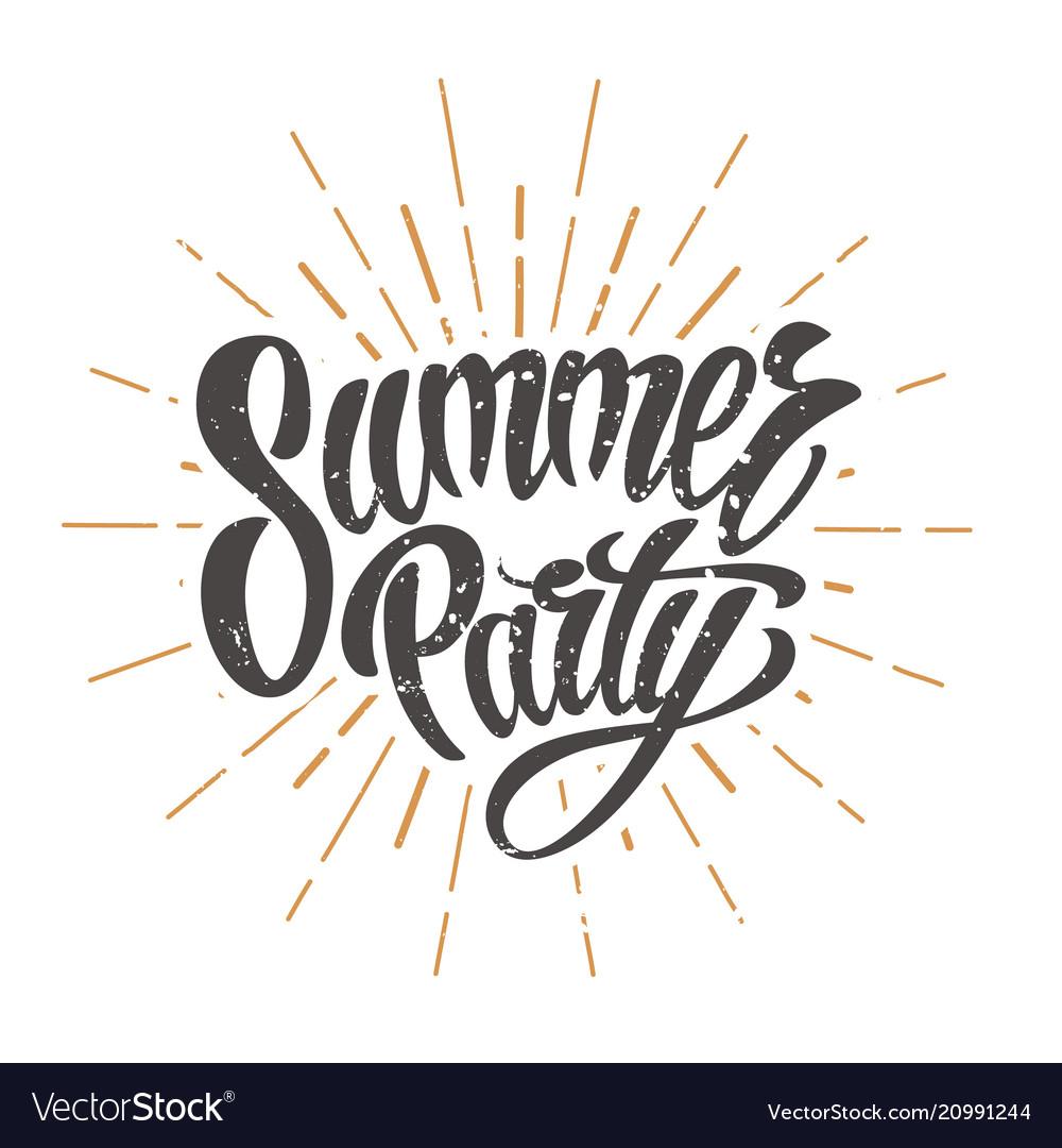Summer party emblem