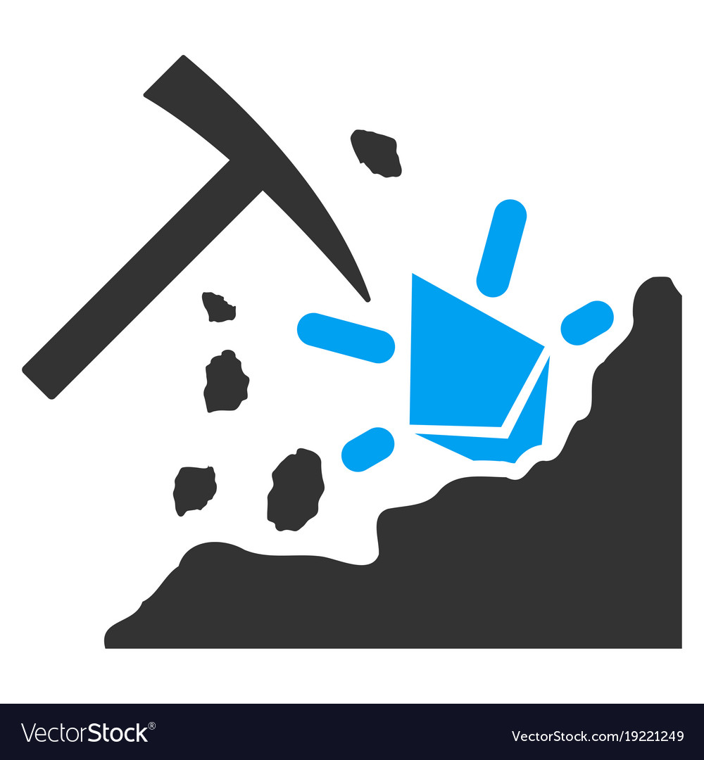 Ethereum mining hammer flat icon