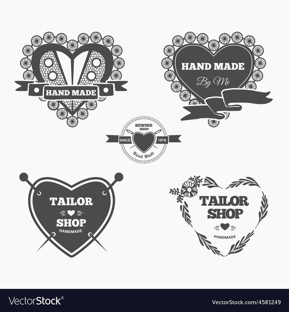 Handmade logo vector image