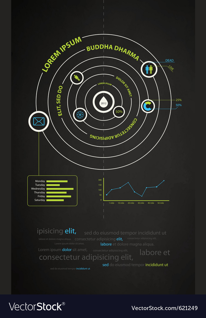 Infographics abstract presentation of business