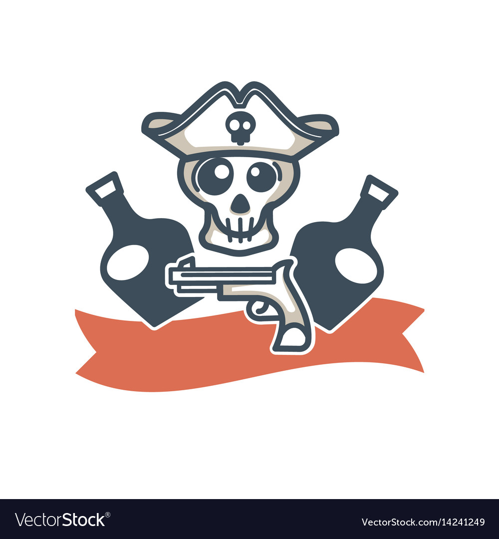 Jolly roger pirate icon flag skull and
