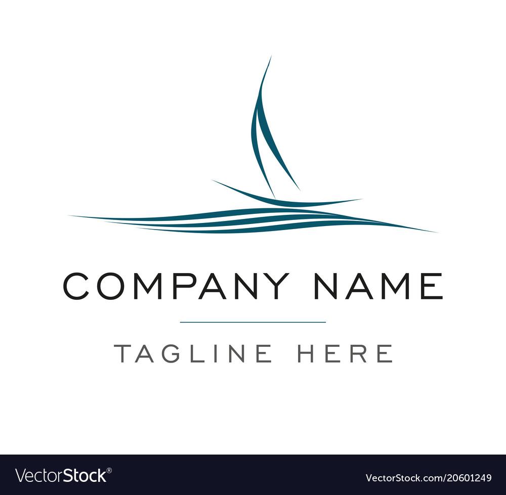 Ship logo sailing boat template Royalty Free Vector Image