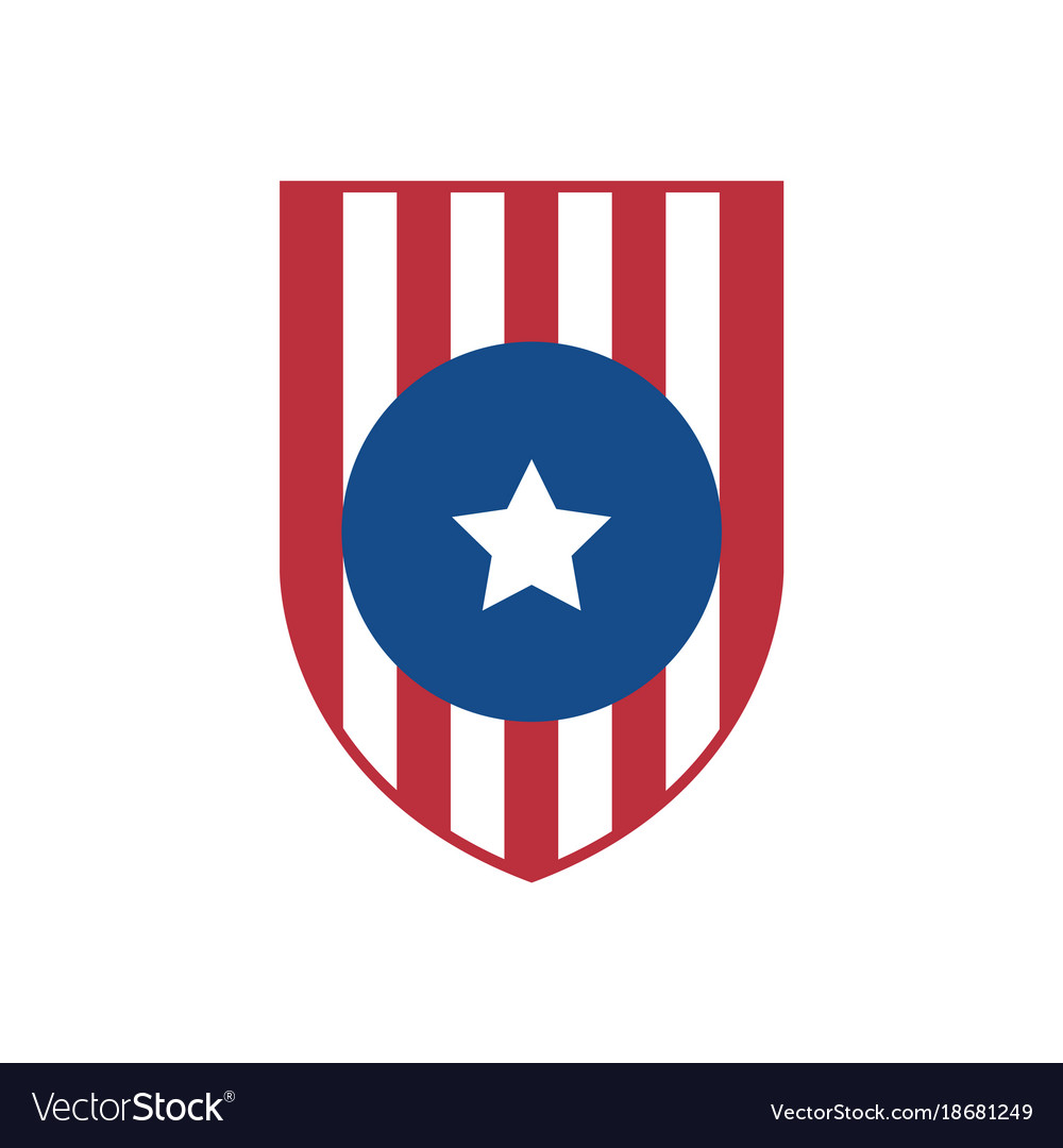 simple usa flag shield emblem royalty free vector image rh vectorstock com us flag logo's us flag logo clip art