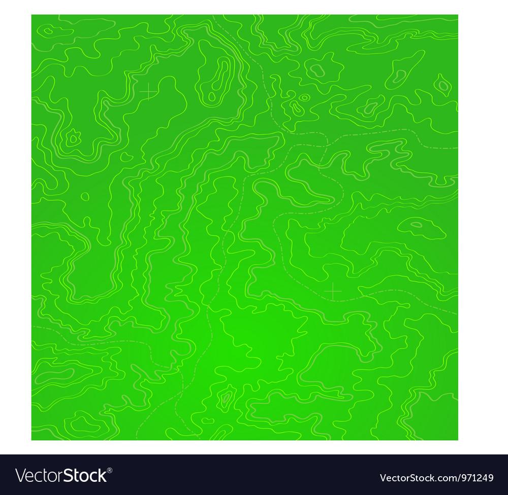 Topographic map green acid vector image