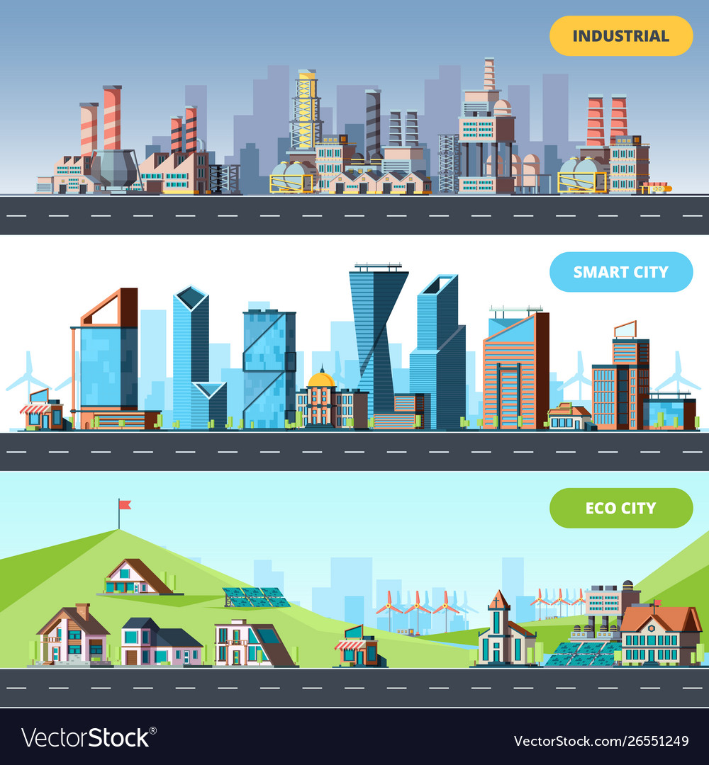 Town flat ecology industrial smart city