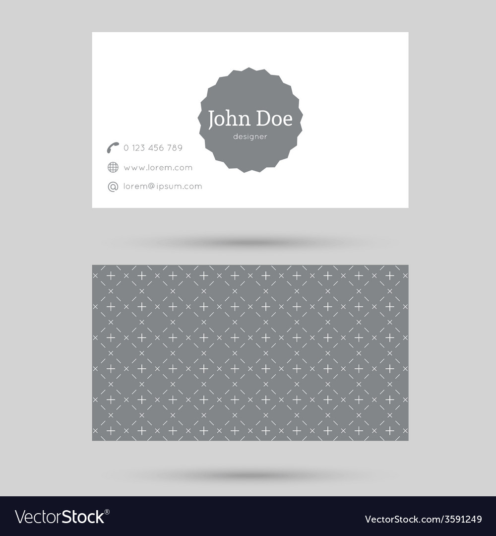 Trendy business card template vector art download blank vectors 3591249 for Composite card template free