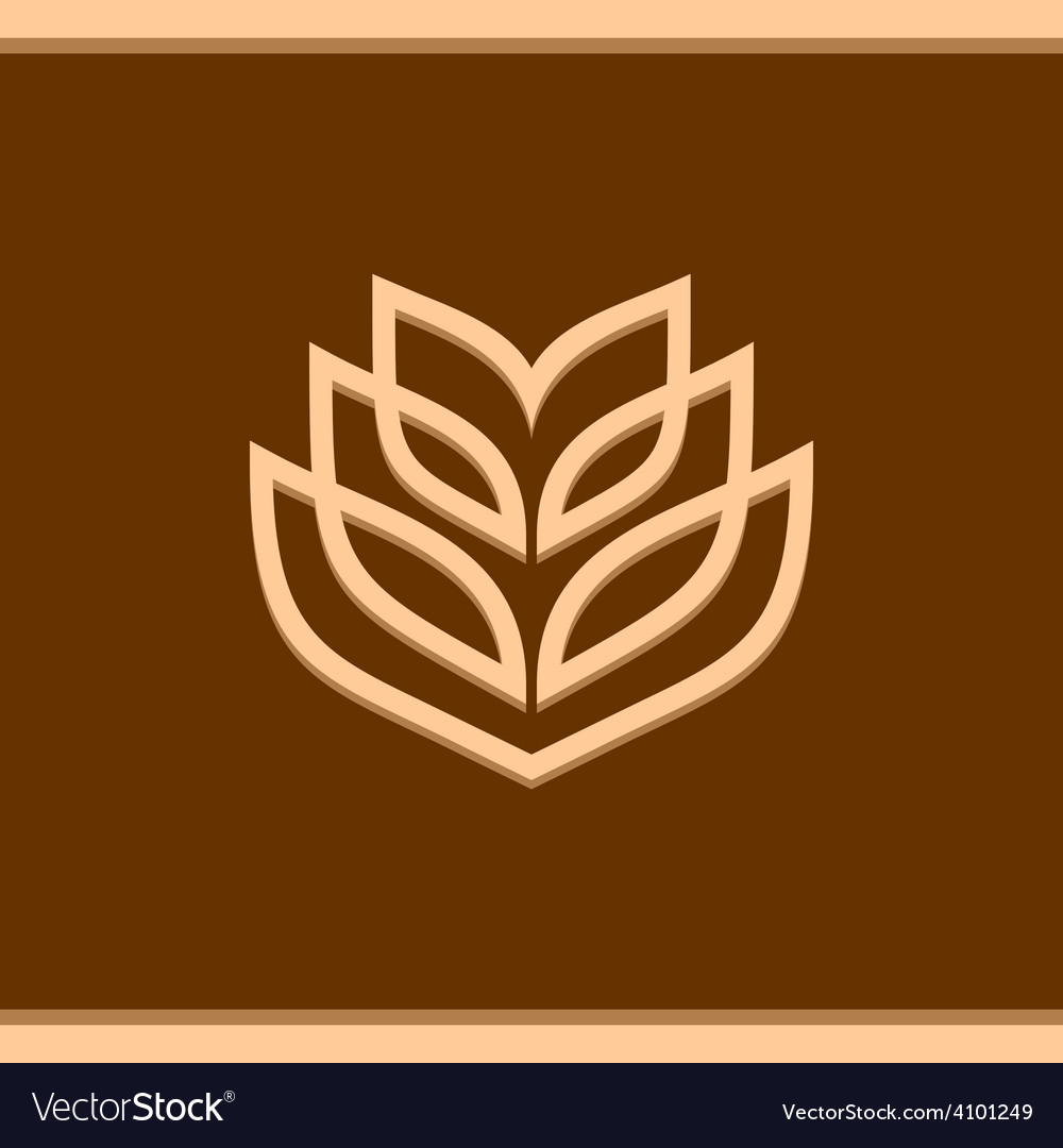 Wheat ear technical logo template vector image