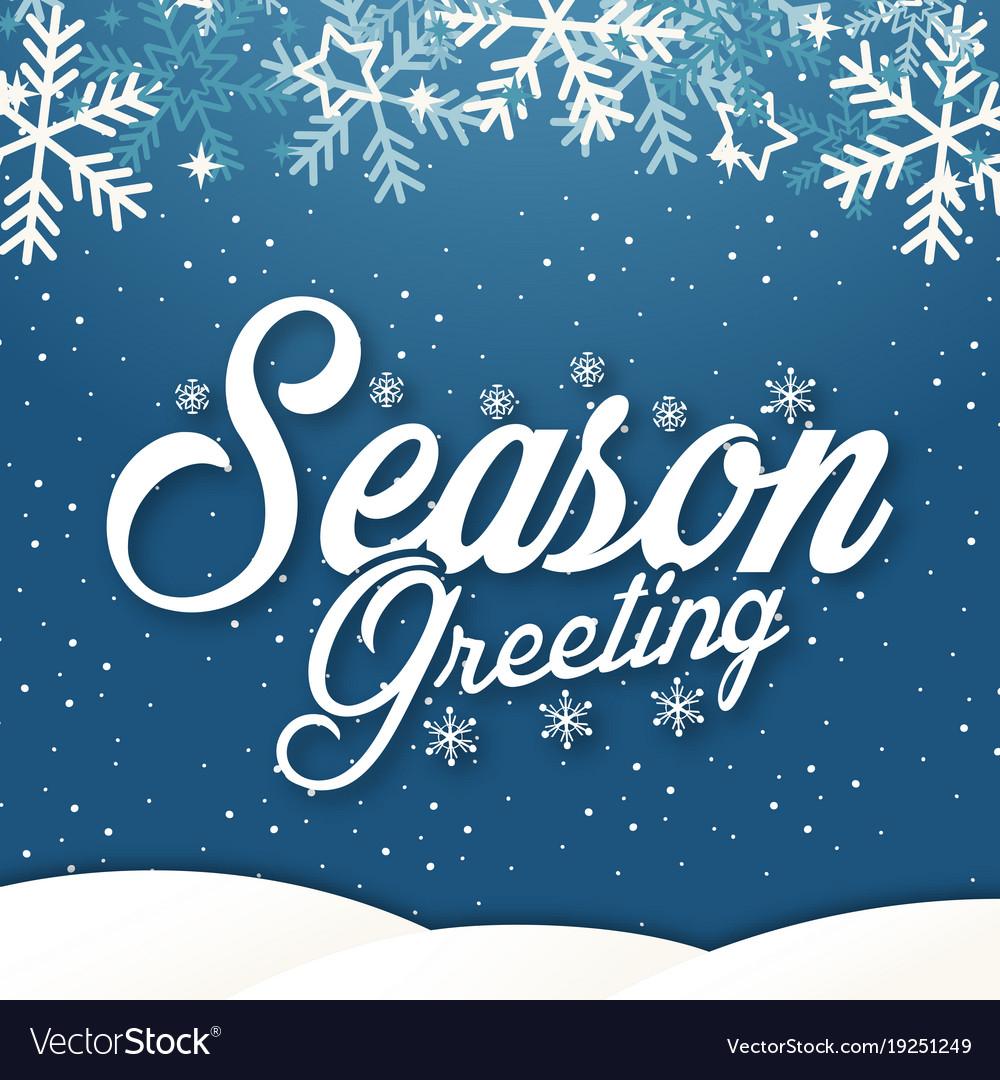 Winter Background Season Greeting Image Royalty Free Vector
