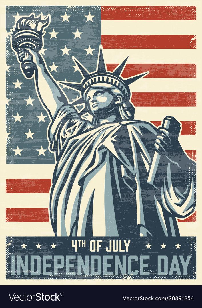 4th july vintage poster