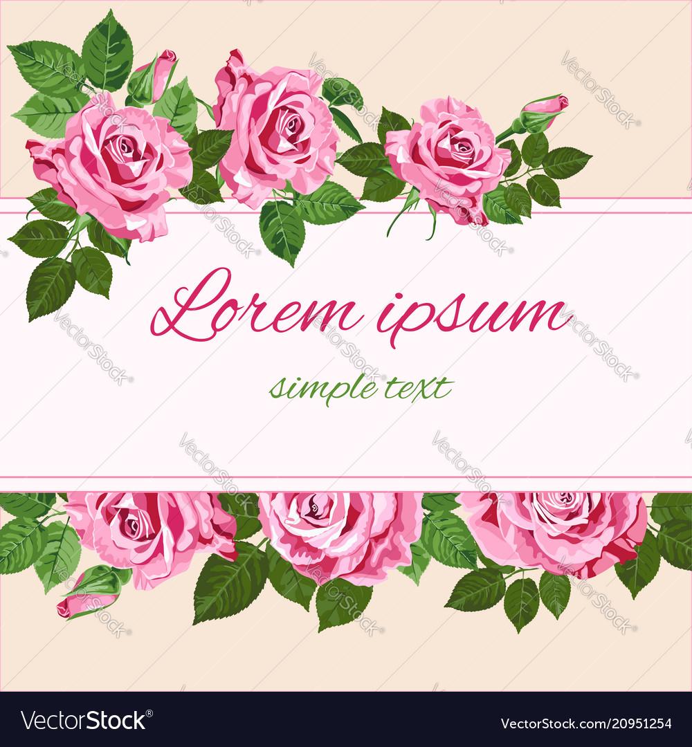 Bright pink roses art-29