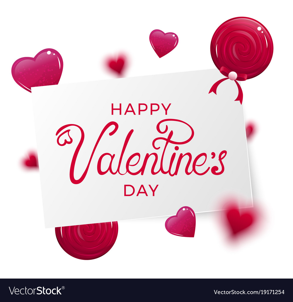 Happy Valentine Day Banner Royalty Free Vector Image