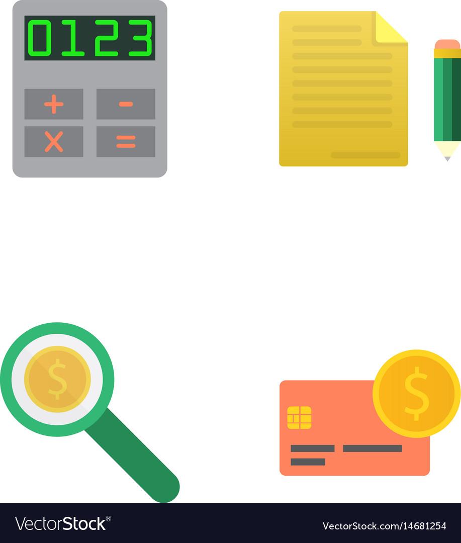 Money flat icon set for flat style