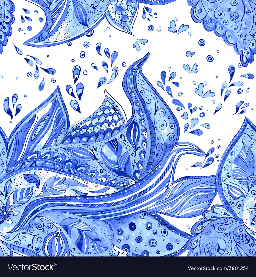 Seamless texture with creative pattern watercolor