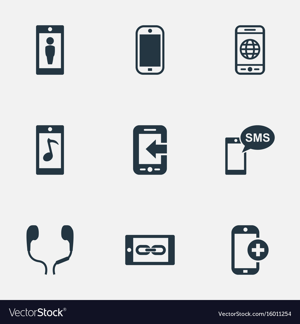 Set of simple icons elements worldwide net