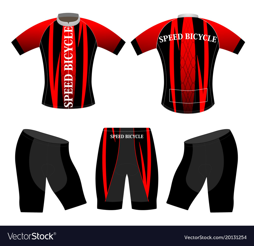 Speed bicycle sports t-shirt vector image