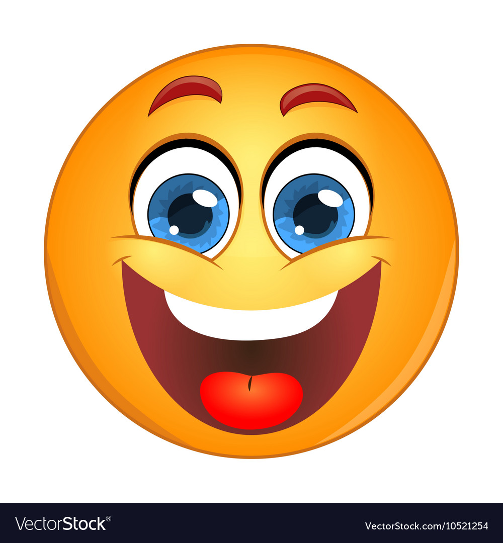 Yellow Smiley Laughing Royalty Free Vector Image