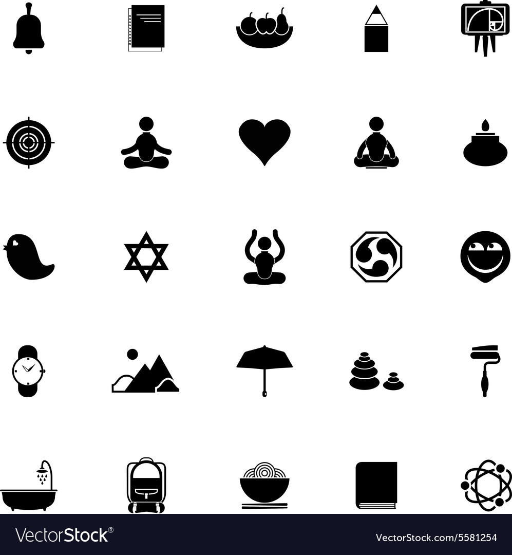 76d8ea5a Zen society icons on white background Royalty Free Vector