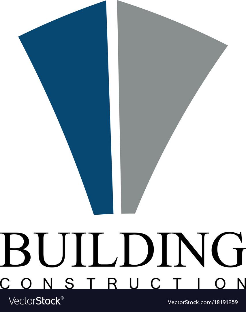 Building construction company logo