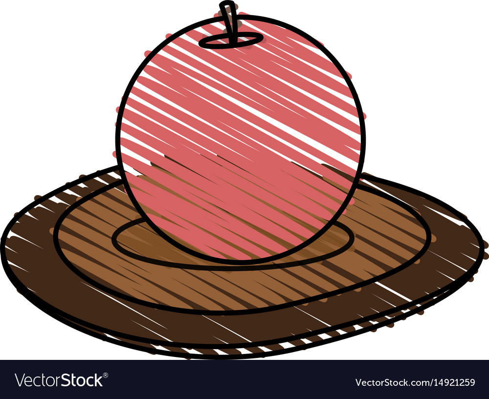 Color crayon stripe cartoon decorative circular