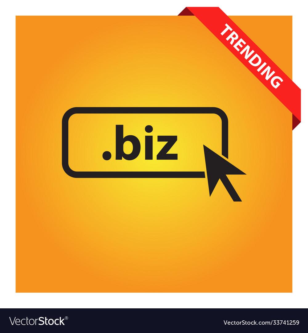 Domain biz icon top-level internet