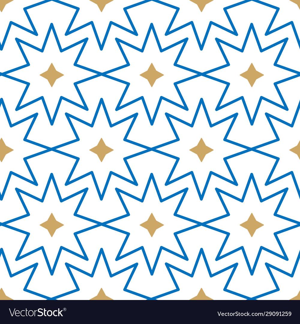 Geometric islamic stars seamless pattern
